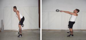 swing con kettlebell